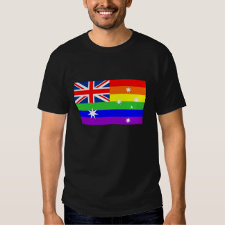 australia country gay proud rainbow flag t-shirt