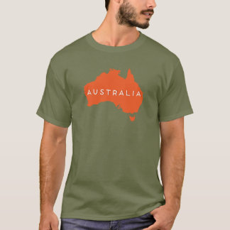 Australia Country Silhouette T-Shirt