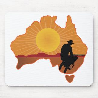 Australia Cowboy Mousepads