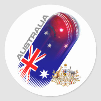 Australia Cricket Classic Round Sticker