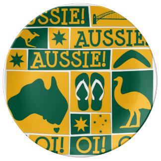 Australia Day Plate