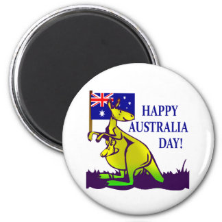 AUSTRALIA DAY T-Shirts and Gifts! 6 Cm Round Magnet