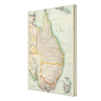 Australia eastern section canvas print
