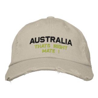 Australia Embroidered Baseball Caps