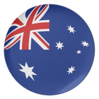 Australia Fisheye Flag Plate