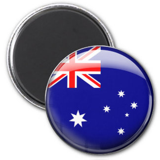 Australia Flag 6 Cm Round Magnet