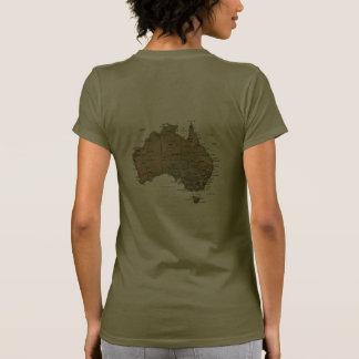 Australia Flag and Map dk T-Shirt T Shirts