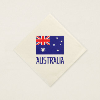 Australia Flag and Word Disposable Serviettes