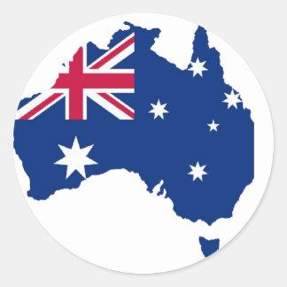 Australia flag Australia styles Design Classic Round Sticker