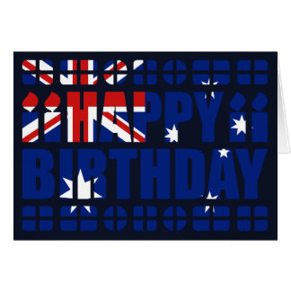 Australia Flag Birthday Card