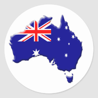 Australia-flag-country-bevelled-edge Round Sticker