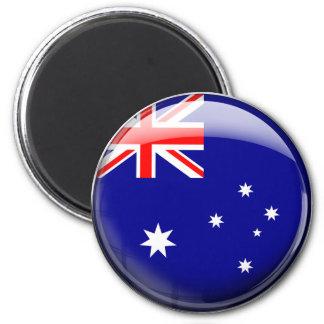 Australia Flag Glass Ball Fridge Magnets