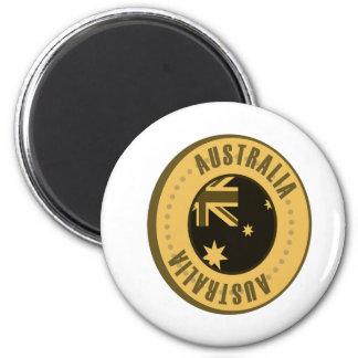 Australia Flag Gold Coin 6 Cm Round Magnet