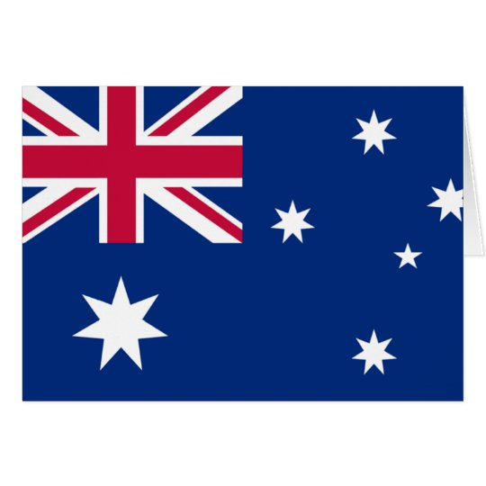 australia flag happy birthday card