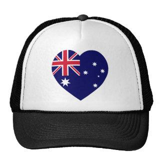 Australia Flag Heart Cap