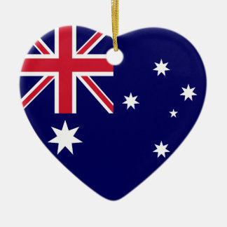 Australia Flag Heart Ceramic Heart Decoration