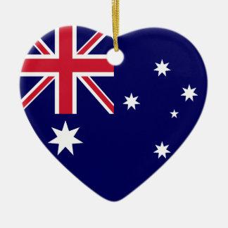 Australia Flag Heart Christmas Ornament