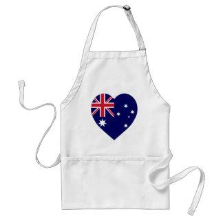 Australia Flag Heart Standard Apron