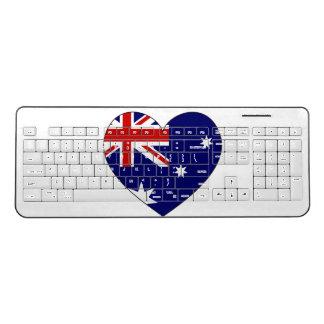 Australia Flag Heart Wireless Keyboard