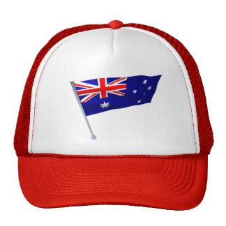 Australia flag in the wind cap