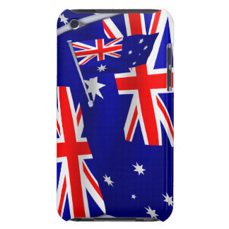 Australia flag in the wind iPod touch cases