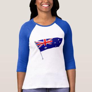Australia flag in the wind T-Shirt