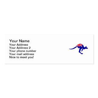 Australia flag kangaroo pack of skinny business cards