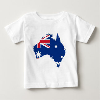 australia flag map baby T-Shirt