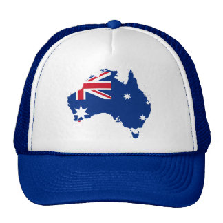 australia flag map cap