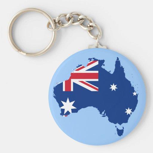 australia flag map keychains