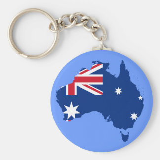 australia flag map key ring