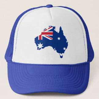 australia flag map trucker hat