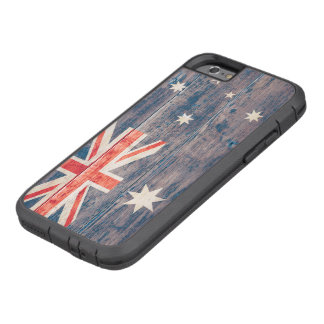 Australia Flag on Wood Tough Xtreme iPhone 6 Case