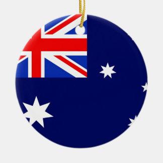 Australia Flag Round Ceramic Decoration