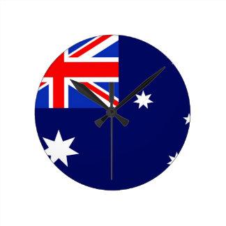 Australia Flag Round Clock