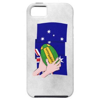 Australia Flag Rugby Ball Cartoon Hands iPhone 5 Case