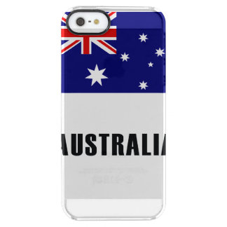 Australia Flag Simple Dark Clear iPhone SE/5/5s Case
