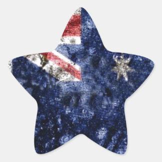 AUSTRALIA FLAG STAR STICKER