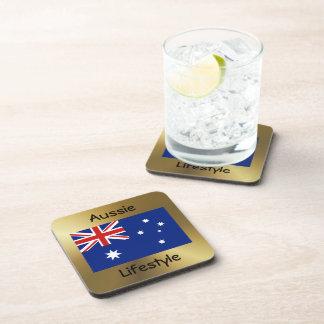 Australia Flag+Text Coaster
