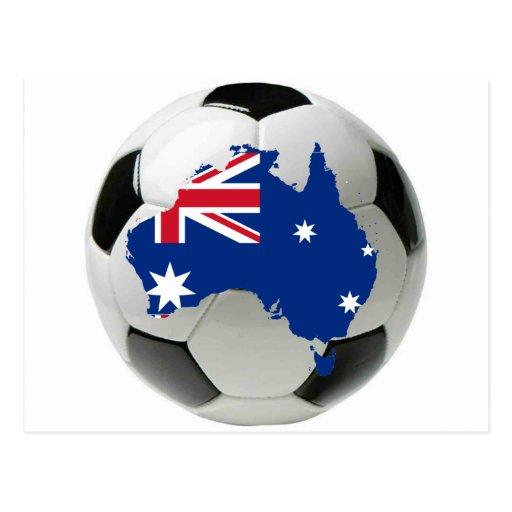 Australia football soccer post cards
