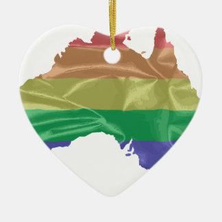 Australia Gay Pride Flag Ceramic Heart Decoration