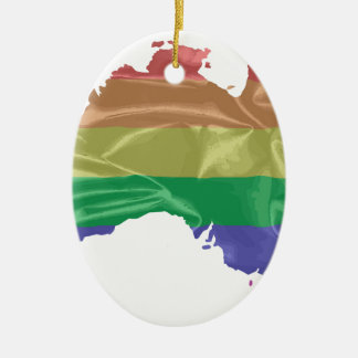 Australia Gay Pride Flag Ceramic Oval Decoration