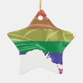 Australia Gay Pride Flag Ceramic Star Decoration