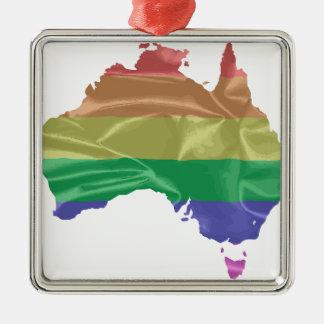 Australia Gay Pride Flag Christmas Ornament