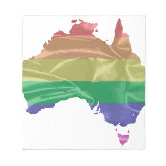Australia Gay Pride Flag Notepad
