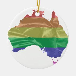Australia Gay Pride Flag Round Ceramic Decoration