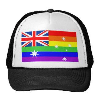 australia gay proud rainbow flag homosexual cap