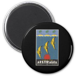 Australia Great Barrier Reef Queensland 6 Cm Round Magnet