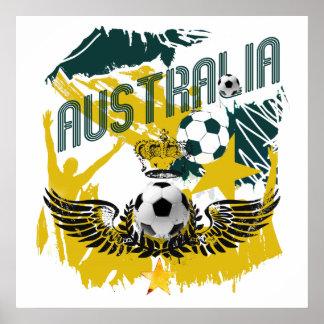 Australia grunge socceroos celebration gifts print