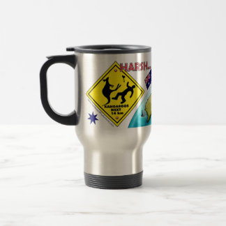 Australia Harsh but Beautiful Travel Mugs Light
